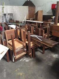 Prateleiras de madeira Imbuia Maciça