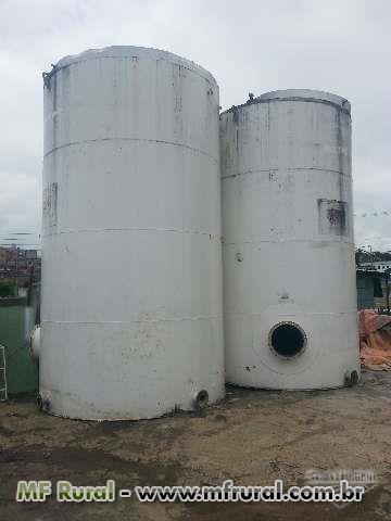 Tanque de aço carbono usado