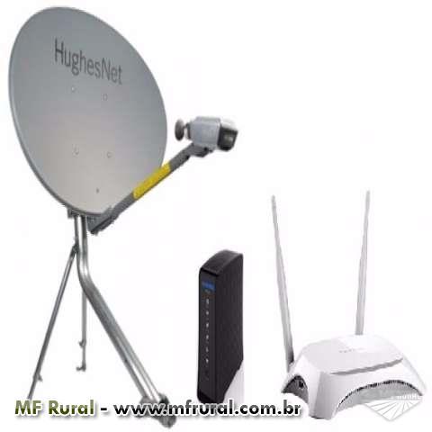 Internet via satelite de alta velocidade