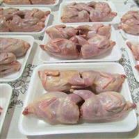 Carne de codorna congelada