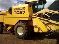 Colheitadeira Tc 57 hidro no motor novo nota fiscal peneira nivelante 2 dono