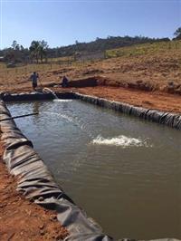 Geomantas para tanques e represa