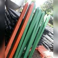 Poste de cerca e mourao maciço de madeira plástica - palanque 7cmx7cmx2m