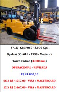 Empilhadeira - Yale - G87P060 - 3.000 Kgs.