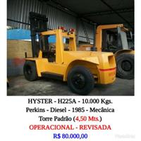 Empilhadeira - Hyster - H225A - 10.000 Kgs.