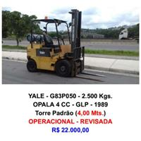 Empilhadeira - Yale - G83P050 - 2.500 Kgs.