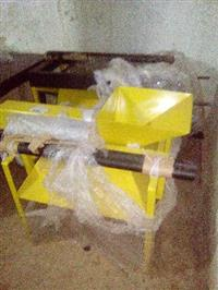 Peneira elétrica e triturador para argila