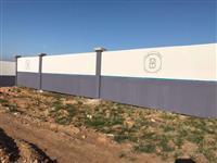 Muro de concreto Placa Personalizado