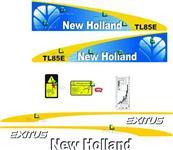 Adesivo decalque trator new holland tl 75 ,85,95,80,tm ,t7-colheitadeira tc 57 ,tc 5070 ,tc 5090