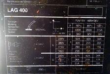 Máquina de solda ESAB LAG 400 + Cabeçote MEF 30