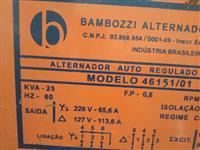 GERADOR ALTERNADOR BAMBOZZI TRIFASICO DE 25 KVA