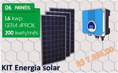 Kit gerador energia solar fotovoltaica