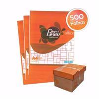 PAPEL SULFITE A4 75 GRAMAS CAIXA COM 10 PACOTES DE 500 FOLHAS CADA.
