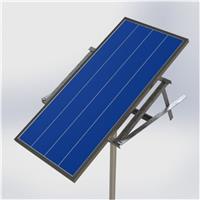 Poste Solar Autônomo - 1 Projetor LED - Base de Fixação Cidade Solar