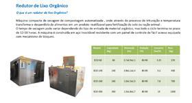 Redutor de Lixo Orgânico