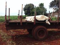 Carreta de 1 Eixo com Pneu Duplo Para Plantio de Cana