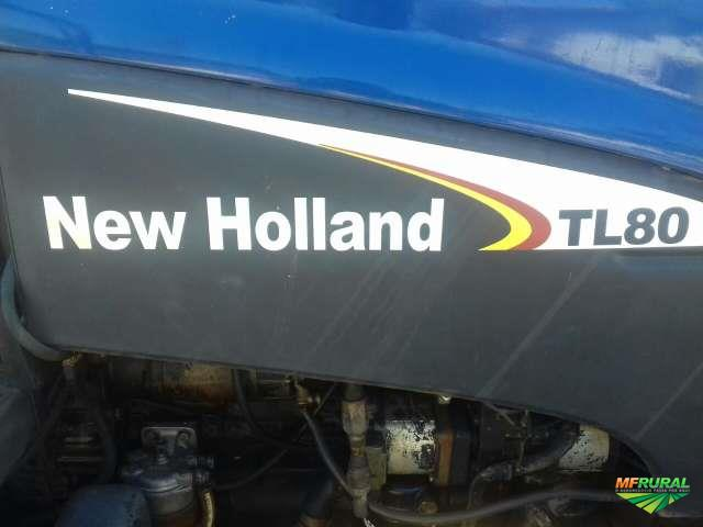 Trator New Holland TL 80 4x4 ano 05