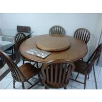 Sala de Jantar 1,50 x 1,50 - ( 06 Cadeiras ) Madeira Maciça