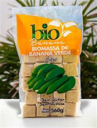 Biomassa de banana verde congelada