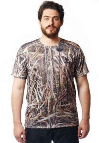 Camiseta Camuflada Real Hunter Manga Curta Palhada