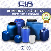 Bombonas Plásticas - Tampa Fixa e Removível