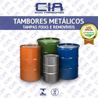 Tambores Metálicos de Tampa Fixa e Removível - 200 Litros - HOMOLOGADO