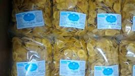 Banana Chips da terra comprida e redonda