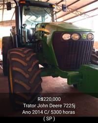 Trator John Deere 7225 4x4 ano 14
