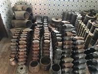 Tubos e Conexoes de aço carbono e inox e parafusos em inox.