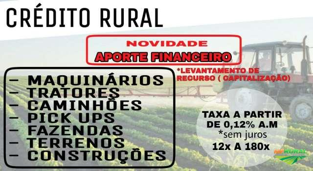 Crédito Rural - Consórcio Rural com taxas a partir de 0,12% ao mês
