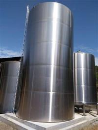 Tanque inox 304 vertical novo fundo plano 50.000 litros com escada,escovado externo (novo)