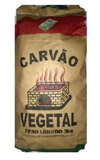 Carvão Vegetal p/ churrasco (maior Durabilidade) Pacote 3kg C/acendedor