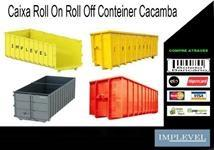 cacamba roll on off, estacionaria, container construcao civil, poliguindaste