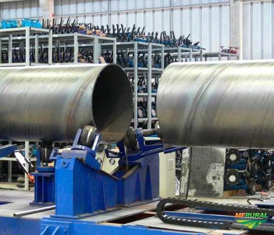 """Tubos de grandes diametros, de 6"""" a 150"""" polegadas."""