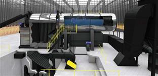 Caldeira a vapor 1500 kg hora a pronta entrega
