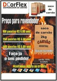 Distribuidor de carvão para churrasco na zona norte  de SP