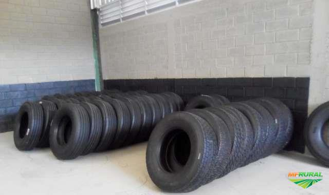 Pneu 295 e 275 liso reformado novo - Rodovia pneus
