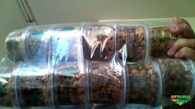Amendoim com alho pote