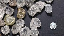 Diamantes bruto