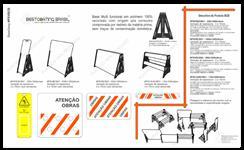 Placas e cavaletes em material reciclado para Sinalização de Obras/Rodovias