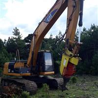 Escavadeira e Destocador Florestal