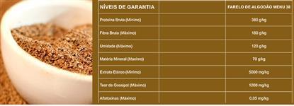 FARELO DE ALGODÃO ENSACADO 38 % DE PROTEÍNA BRUTA