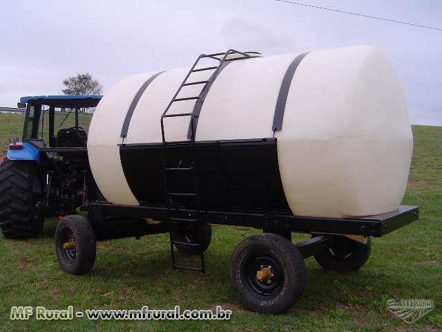 Carreta Agrícola 2.600 lts, Eixo simples 2 Rodas Aro 16, s/Bomba e s/Pneu