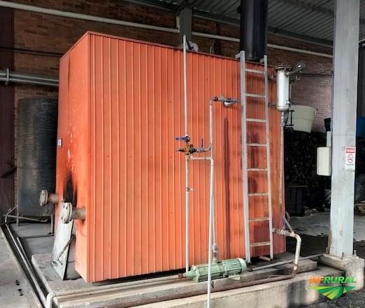 Caldeira à lenha 1000 kg/h fabricante ALTERMA, ano 2007, excelente estado e ótimo rendimento.