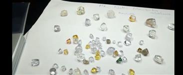 Qualidade Diamante bruto sem cortes e barras de ouro