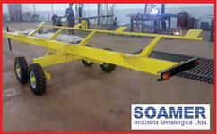 Carreta para Transporte de Plataforma. Plataforma 20 pés