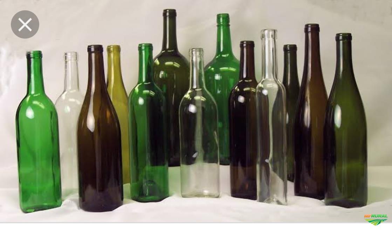 Vendo garrafas de vidro