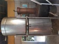 Alambique de cobre com pré aquecedor