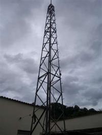 Torre auto sustentável galvanizada estrutura pesada de 15 mts
