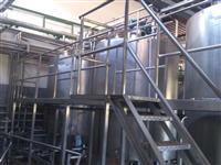 Tanque inox misturador agitador iogurte bebida láctea leite fermentado 15000 litros